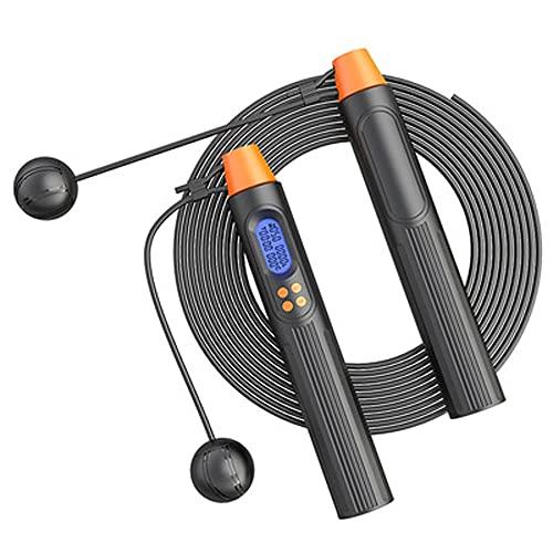 HXPH Springseil Mit ZäHler Ropelength Adjuster Inklusive Speed-Springseil Mit Rutschfestem Griff FüR Fitness, Training, Boxen,Fitness Gym Workouts