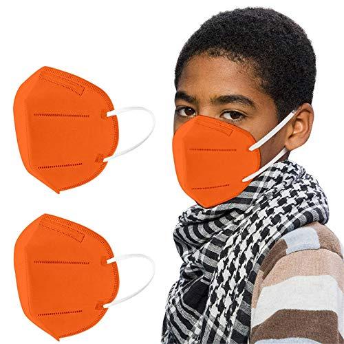 NGcat 10/50/100 Stück Kinder_5 Lagige Schutz_Maske,5 Lagige Mund und Nasenschutz, Staubdicht Mund-Nasen Bedeckung Atmungsaktiv Stoff Bandana Halstuch Schals Mund-Nasen-Schutz mit Nasenclip