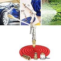 ガーデンホースノズル、高圧伸縮式洗浄水ノズル、車やペット/芝生や庭の灌漑/歩道を洗浄するためのロングガーデンノズルセット、22M