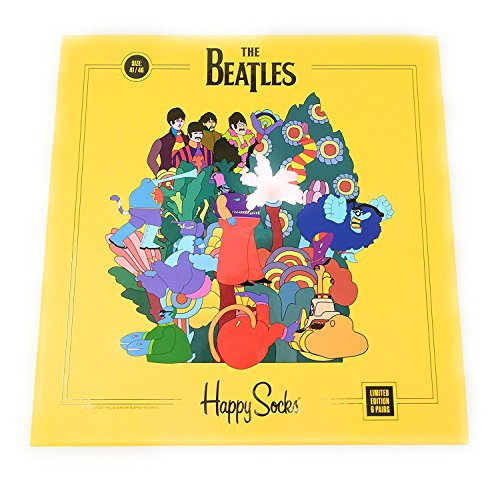 Happy Socks Limited Edition The Beatles Yellow Submarine 6 Pack Collector's LP Box