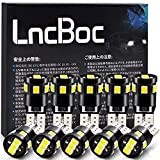 LncBoc T10 LED ホワイト 爆光 ポジションランプ led キャンセラー内蔵 12V 9連SMD 2835LED チップ ウェッジ電球 白 ルームランプ/ナンバー 付き 10個 一年保証