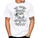 FUNNY CUP Camiseta No Somos raros Somos los Amigos del Novio. Divertida para Despedidas de Soltero (L)
