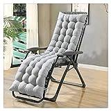 Kuhxz Patio Chaise Lounger Cushion, Lounger Rocking Sofa Zero Gravity Locking Garden Outdoor Loung Chair Tatami Mat Window Seat Mattress Chair Pad (61.0 x 18.9 x 3.1 inches, Gray)