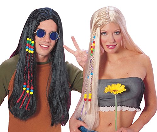 Rubie 's Officiële Feeling Groovy Hippie pruik blond, volwassen kostuum - One Size