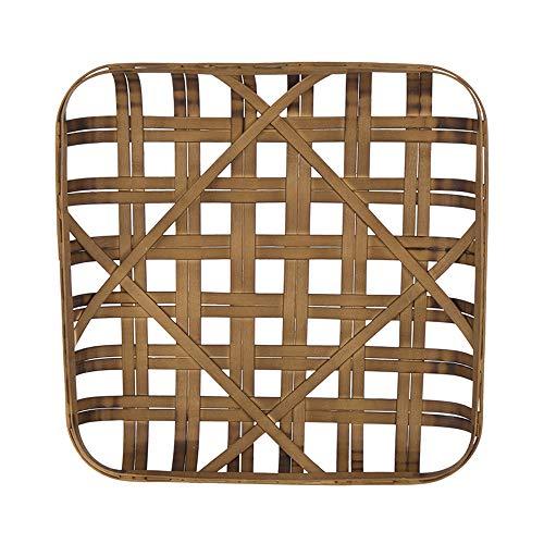 Glitzhome Square Tobacco Basket 24 Inch Dark Brown Bamboo Wall Decor Woven Farmhouse Decor