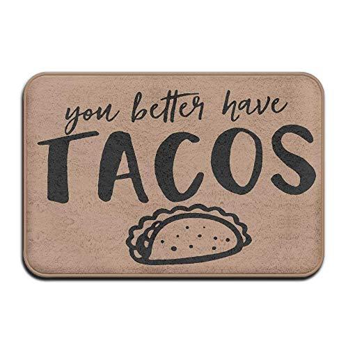 KLing Es Mejor Que Tenga Tacos Alfombrilla Antideslizante Resistente para Puertas Delanteras Alfombra de Entrada Interior Alfombrillas 24x 16/40 x 60cm Alfombra Alfombra para el hogar
