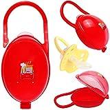 alles-meine.de GmbH Schnullerbox / Dose - bis 2 Schnuller - mit Henkel - Haken - Disney Cars - Auto - Lightning McQueen - BPA frei - Schnullerdose - für Jungen / Kinder Baby - Ku..