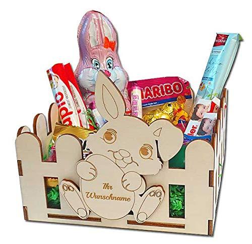 KF-Geschenke Osternest Kinder mit gratis Namensgravur, Osterkörbchen, Osterdeko, Osterkorb personalisiert