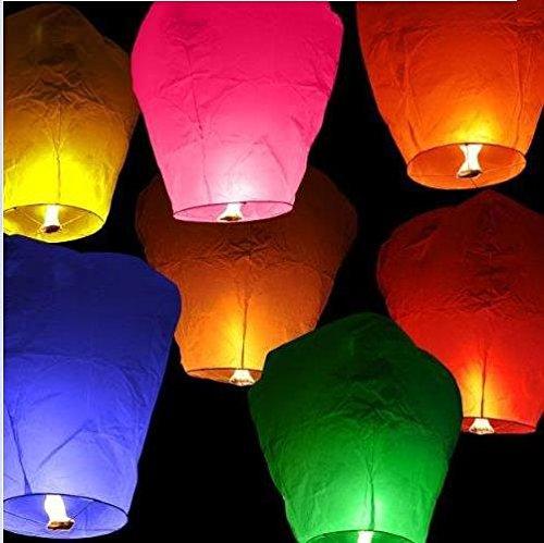C.X.Y. lanternes Volantes Chinoises colorées 20 pièces, Assorties, Ca. 33 x 86 cm