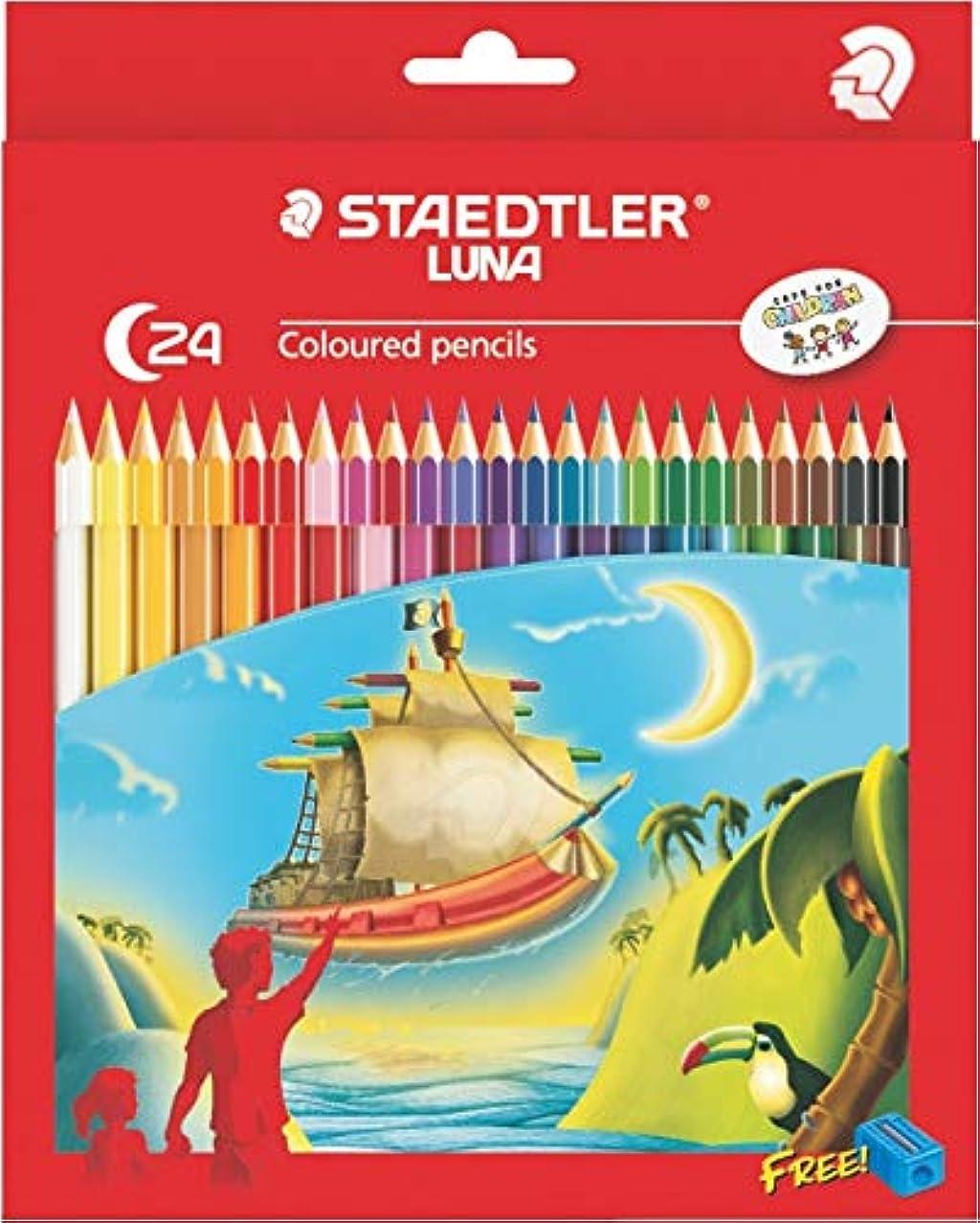 Staedtler Luna 24 Colors Coloured Pencil Set with FREE Pencil Sharpener