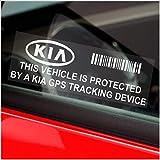 Platinum Place - Pegatina para coche con advertencia de seguimiento por GPS (5 unidades, 87 x 30 mm, para Kia, Picanto,Rio,Soul,Venga.Cee'd,Optima,Carens,Sportage,Sorento)