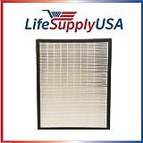 LifeSupplyUSA 2 Pack Replacement HEPA Filter fits Alen Air Flex HEPA-Pure Purifier BreatheSmart