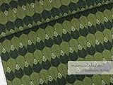 Mamasliebchen Jersey-Stoff shapeleaves #Olive (0,5m) Blatt