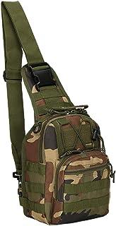 F Fityle Shoulder Bag Chest Pack Single Shoulder Messenger Molle Military Sport Backpack Hiking Daypack Men Women