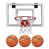 GoSports Basketball Door Hoop with 3 Premium Basketballs & Pump - Standard Size