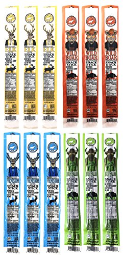 Pearson Ranch Assorted Grass Fed Game Meat Sticks –...