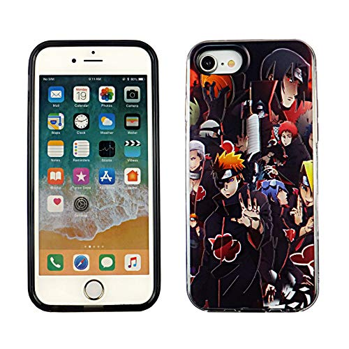 iPhone SE 2020 Dual Slim Case CASEVEREST 3D Print Cover iPhone SE Naruto Akatsuki Clan Anime Manga iPhone 6S 7 8 PC+PTU