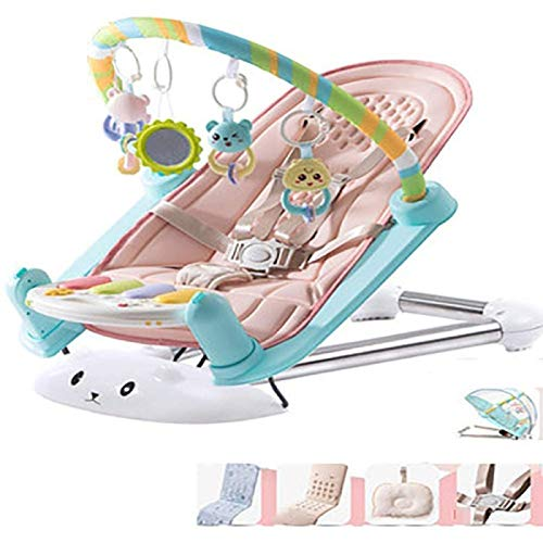 Song Foldable Baby Rocking Chair, Chird Pedal Piano Fitness Frame Baby Toy Blanket Baby Newborn Pedal Piano 0-1 Year Old
