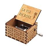 La Vita in Rosa Music Box, Fai-da-Te La Vita in Rosa inciso Scatola di Legno Decorativi Regali di Natale Pura Mano-Classica Music Box