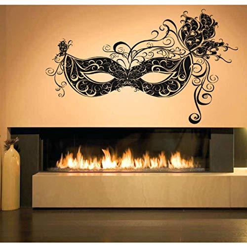 Kyzaa muurdecoratie, muurtattoo, vinyl, zelfklevend, Venetiaans, carnaval, groot masker