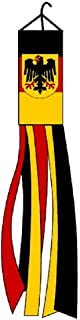 German Eagle Country Windsock Beautiful Shiny Polyester Material 5 Feet Long 5.5