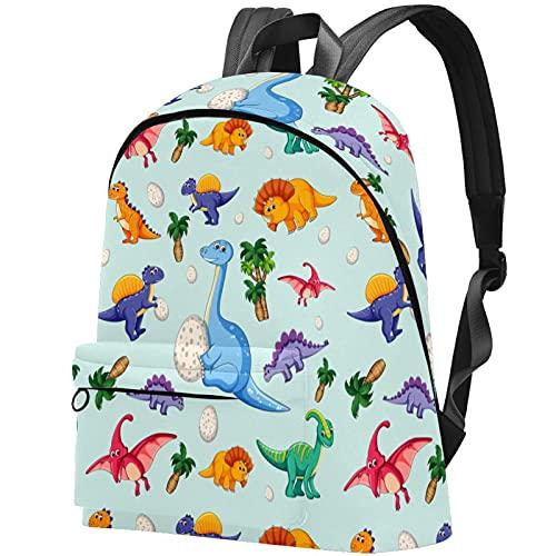 Rucksack Damen groß modern Schulrucksack Mädchen Teenager Tagesrucksack Verschiedene Tragevarianten Rucksack Nettes Cartoon-Dinosaurier-Babyjunges-Ei