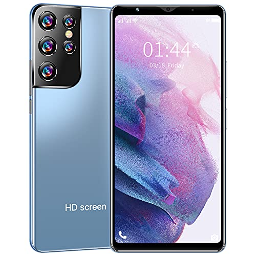 Smartphone Offerta del Giorno, 6.1  IPS Grande Display, 4G ROM 32GB Espandibili Cellulare, Smartphone Android Cellulare Dual SIM Economici Telefoni Mobile 3G Cellulari (S21+Uitra Blue)