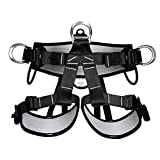 HaoFst Half Body Climbing Harness Belt for Fire Rescue High Altitude School Assignment Caving Rock Climbing Rappelling Equipment Body Guard Protect