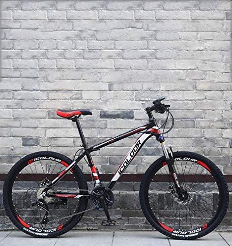 HCMNME Bicicleta Duradera Soft Tail Bicicleta Plegable de la montaña, Bicicletas Marco Doble Freno de Disco de Acero de Alto Carbono/Off-Road Playa de Motos de Nieve Bicicletas, 26 Pulgadas