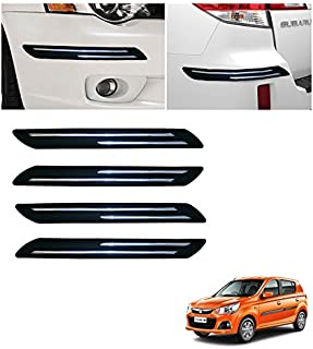 Autowheel WV01RCA07976 Car Bumper Protector with Double Chrome Strip for Maruti Alto K10