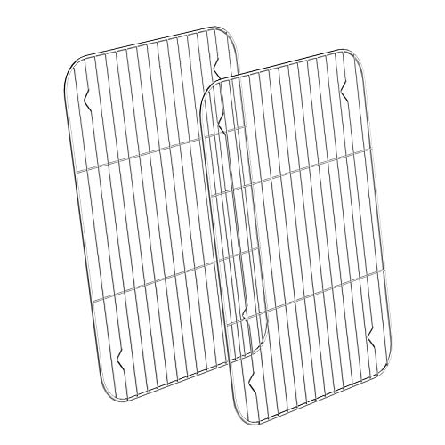 Large Stainless Steel Cooling Racks 2 Pack HKJ Chef Baking Racks Size 15 x 11 x 05Inch for Cooking Baking Roasting Grilling Cooling Fit Various Size Cookie Sheets Oven amp Health amp Dishwasher Safe