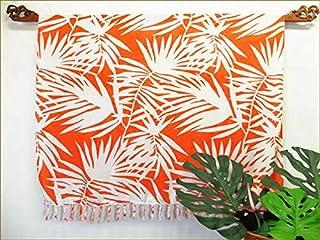 パレオ 大判 水着 パレオ-088 タヒチアンダンス マルチカバー オレンジに白いパームリーフ