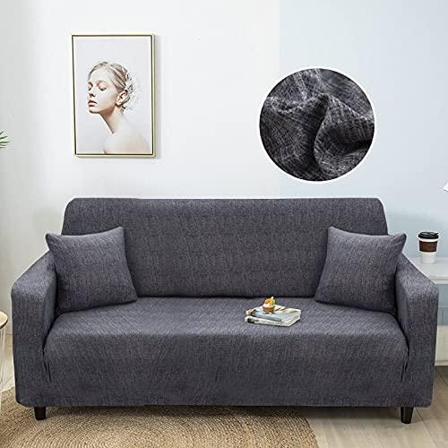 WXQY Funda de sofá elástica con patrón de Lino de imitación Funda de sofá elástica Funda de sofá de Sala de Estar Funda de protección de Muebles para sillón A21 4 plazas