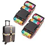 Gutsdoor Adjustable Travel Luggage Straps Suitcase Belt Travel Bag Accessories 1.96 in W x 6.4 ft L (2 Pack)