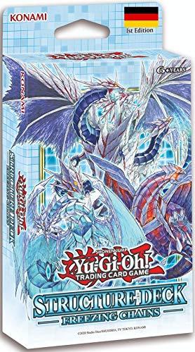 A YuGiOh Freezing Chains Structure Deck | DEUTSCH | Yu-Gi-Oh! Karten NEU GÜNSTIG | + Arkero-G 100 Small Soft Sleeves japanische Kartenhüllen