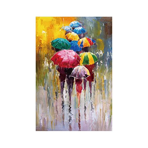 Babysbreath17 Las Personas con Paraguas de Dibujo Aceite Cuadros de la Pared Acuarela Arte de la Lona Poster Impreso sin Marco hogar decoración de la Oficina 40x60cm
