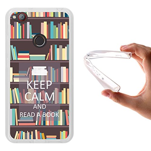 WoowCase ZTE Nubia Z11 Mini Hülle, Handyhülle Silikon für [ ZTE Nubia Z11 Mini ] Keep Calm and Read a Book Handytasche Handy Cover Case Schutzhülle Flexible TPU - Transparent