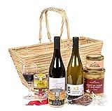 Ducs de Gascogne - Coffret gourmand 'Panier du Sud-Ouest' - comprend 8 produits dont un foie gras entier, un vin blanc sec et un vin rouge - spécial cadeau (946573)