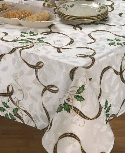 Lenox American By Design Holiday Nouveau Rectangular Tablecloth, 60-by-102 Inches