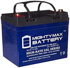 ML35-12GEL is a 12V 35AH GEL rechargeable maintenance free battery Dimensions 7 68 inches x 5 16 inches x 7 13 inches Listing is for the Battery and Screws only No wire harness or mounting accessories included Compatibility Deep Cycle Solar 33Ah 34Ah...