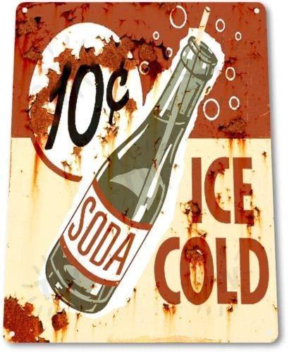 BDTS Metalen tinnen bord 8x12 inch TIN teken ijs koude Soda Cola Keuken Cottage Bar Retro Rustieke Soda Decor
