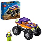LEGO City Great Vehicles Monster Truck con Grandi Pneumatici e Decorazioni Coplorate, Contiene la Minifigure di 1 Pilota con Caso, set di Costruzioni per Bambini +5 Anni, Multicolore, 60251