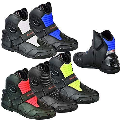 Botas de motocicleta para motociclista, estilo de carreras, para motociclista, botas cortas, impermeables, blindadas para hombre, jinete