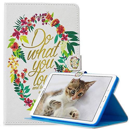 Funda Galaxy Tab 3 Lite SM-T110/T111, con Soporte, Ligero Funda, Cuero de PU Smart Cover para Samsung Galaxy Tab 3 Lite SM-T110/T111 - Haz lo Que amas