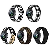 WNIPH 22mm Nylon Elastic Watch Band Compatible for Samsung Galaxy Watch 3 45mm/Galaxy Watch 46mm/Samsung Gear S3 Classic/Frontier/Garmin Vivoactive 4 Adjustable Stretchy Sports Loop Replacement Strap