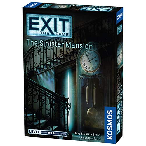 Thames & Kosmos Exit: The Sinister Mansion | Exit: The Game - A Kosmos Game | Family-Friendly, Card-Based at-Home Escape Room Experience for 1 to 4 Players, Ages 12+, Black, Standard