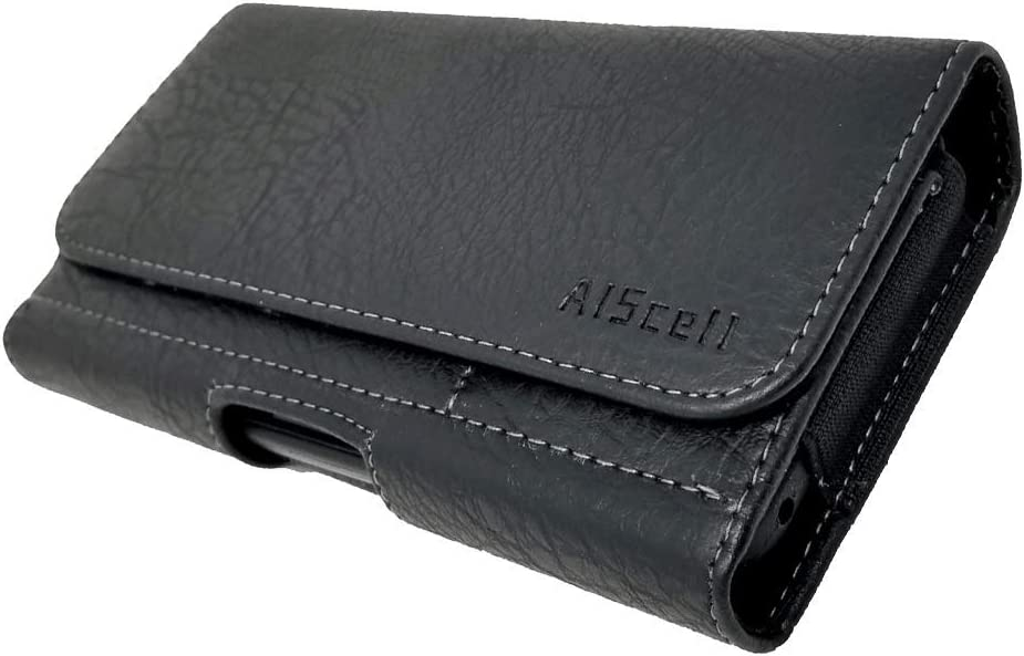 AISCELL Wallet Case for BlackBerry Key2, KEYone, Priv,Premium Black Faux Leather Pouch Magnetic Closure Case Holster Fits Phone with Slim Hybrid Protective Skin Cover or Naked Phone 009