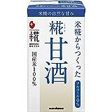 【内容量】125ml×18本 【原材料】米、米こうじ、食塩 【アルコール度数0%】マルコメの「プラス糀 糀甘酒」は、米糀からつくったアルコール0%、砂糖を使っていない甘酒です。 妊婦さん・授乳中のママさんやお子さんにもおすすめです。 【熱中症対策】栄養が豊富で、適度な塩分が夏の熱中症対策にもおすすめです。江戸時代には老若男女の栄養補給として飲まれていた甘酒を、現代でもお楽しみください。【調理例】おでんとの組み合わせもおすすめです。シンプルなのに旨み&甘みたっぷりの「白おでん」をぜひお試しください...