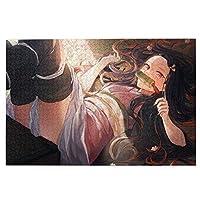 1000ピース ジグソーパズル 木製 鬼滅の刃 竈門禰豆子 (50.3x75.5cm)