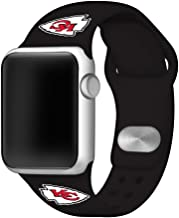 Game Time Kansas City Chiefs Silicone Sport Band Compatible with Apple Watch - Band ONLY (38mm/40mm)